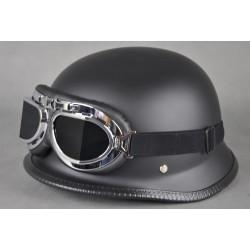"""Öppet hjälm """"tysk militär"""" med glasögon"""